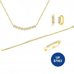 Citigems 18K YellowGold Diamond Set