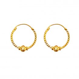 Citigems 916 Alicia Hoop Earrings