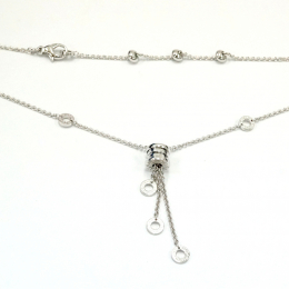 Pre-Loved Bvlgari B.Zero1 18K White Gold Necklace
