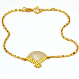 Citigems 18K Yellow Gold Nephrite Bracelet