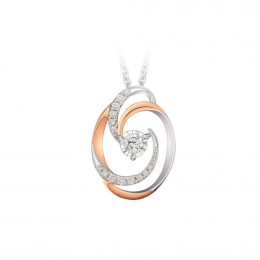 Citigems Rose Gold Diamond Pendant