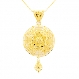 CItigems 916 Gold Calcutta Pendant