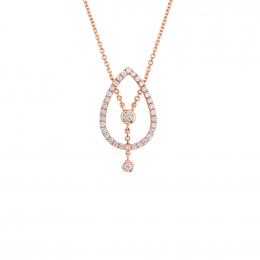 Citigems 14K Rose Gold Seoul Style Diamond Necklace