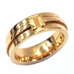 Tiffany & Co. T Narrow 18K Rose Gold Ring (Preloved)