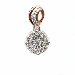 Citigems Rose Gold Diamond Pendant