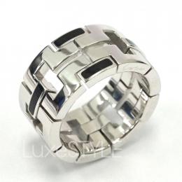 Cartier Le Baiser Du Dragon 18K White Gold Enamel Ring (Preloved)
