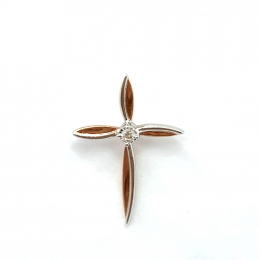 Citigems Rose Gold Classic Cross Pendant