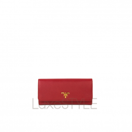 Prada Large Saffiano Wallet with Cardholder