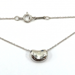 Pre-Loved Tiffany & Co. Elsa Peretti Bean Silver Necklace