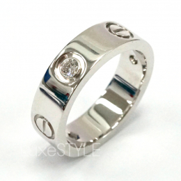 Pre-Loved Cartier Love 18K White Gold 3 Diamond Ring