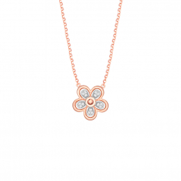 Citigems 14K Rose Gold Daisy Necklace