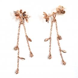 Citigems 14K Rose Gold Seoul Style Earrings