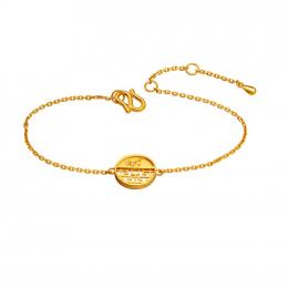 Citigems 999 Pure Gold Oriental Bloom Round Bracelet