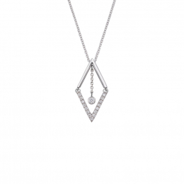 Citigems  White Gold Diamond Necklace