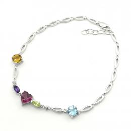 Citigems White Gold Multi-Gem Diamond Bracelet