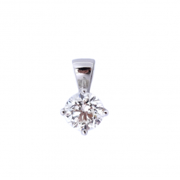 Citigems 18K White Gold 0.54CT Solitaire Pendant