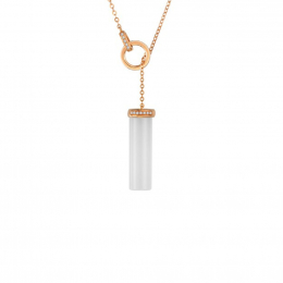Citigems 18K Rose Gold Aurae Nephrite Necklace