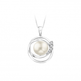 Citigems White Gold Pearl Pendant
