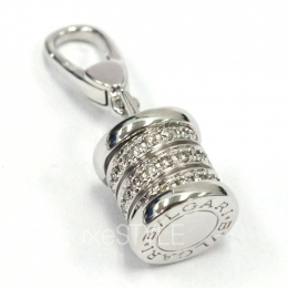 Pre-Loved Bvlgari B.Zero1 Diamond 18k White Gold Charm Pendant