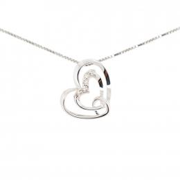 Citigems 10K White Gold Joyful Heart Pendant