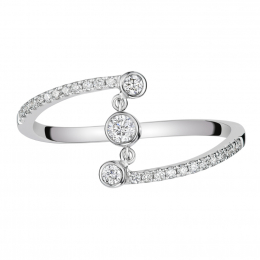 Citigems 14K White Gold Seoul Style Diamond Ring