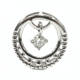 Citigems White Gold Swinging Diamond Pendant