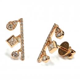 Citigems 18K Rose Gold Seoul Style Earrings 93886