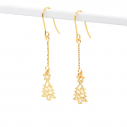 Citigems 916 Christmas Tree Dangling Earrings