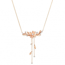 Citigems 14K Rose Gold Floral Embroidery Elistar Necklace