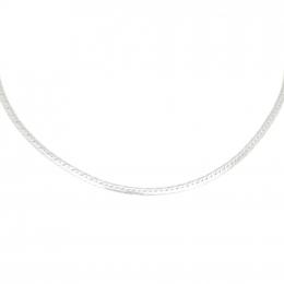 Citigems  White Gold Herringbone Necklace
