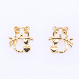 Citigems 916 Gold Panda Earrings
