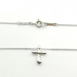 Pre-Loved Tiffany & Co. Elsa Peretti Cross Platinum Necklace