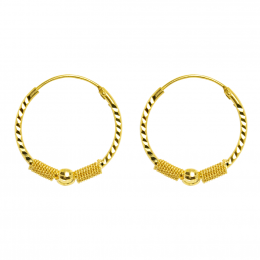 Citigems 916 Adelina Hoop Earrings
