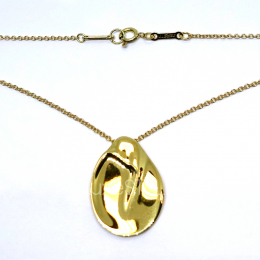 Pre-Loved Tiffany & Co. Elsa Peretti Madonna 18K Yellow Necklace