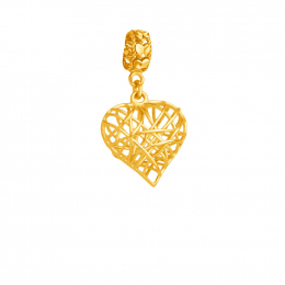 Citigems 916 Gold Wired Heart Charm