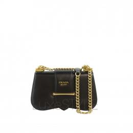 Prada Sidonie Calfskin Leather Black Sling Bag