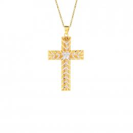Citigems 916 Gold Cross Pendant