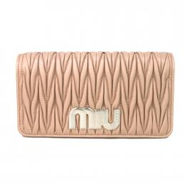 Miu Miu Delice Matelasse Leather Beige / Nude Sling Bag