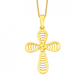 Citigems 916 Filigree Cross Pendant