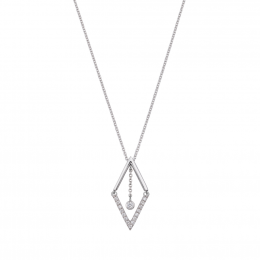 Citigems 14K White Gold Seoul Style Diamond Necklace