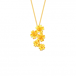 Citigems 999 Pure Gold Daisy Flower Pendant