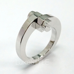 Pre-Loved Cartier Menotte 18K White Gold Ring