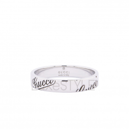 Per-Loved Gucci Icon 18K White Gold Ring