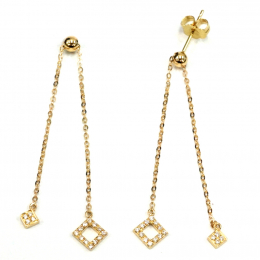 Citigems 18K Yellow Gold Seoul Style Earrings