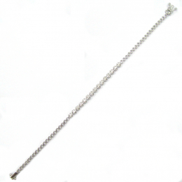 Citigems White Gold Classic Tennis Diamond Bracelet