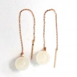 Citigems 18K Rose Gold Nephrite Earrings 91690