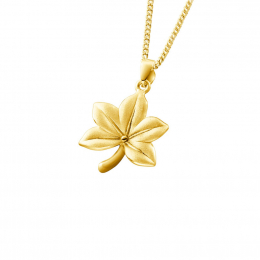 Citigems 999 Pure Gold Acer Maple Leaf Pendant