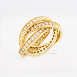 Pre-Loved Cartier Trinity 18K Yellow Gold Diamond Ring