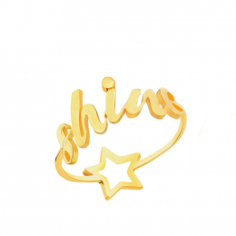 Citigems 916 Gold Shine & Star Dual Ring