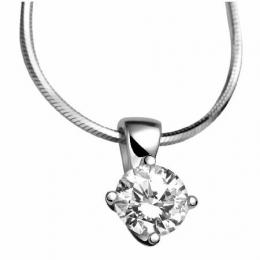 Citigems 18K White Gold Diamond Pendant